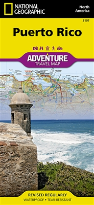 Puerto Rico National Geographic Adventure Map