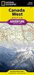 Canada West Adventure Travel Map by Nat Geo. National Geographics Canada West Adventure Map is designed to meet the needs of adventure travelers with its durability and detailed, accurate information. Search for whales off the coast of Vancouver, ski the