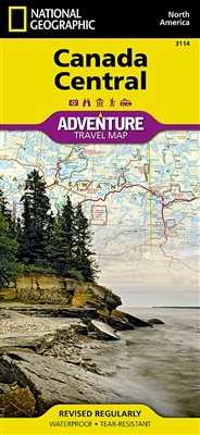 Canada Central National Geographic Adventure Map