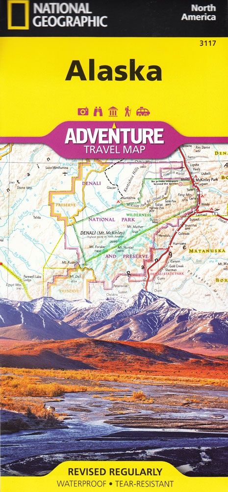 National Geographics Alaska Adventure Map Is Designed To Meet The