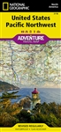 USA Pacific NW National Geographic Adventure Map.  The states of Washington, Oregon and Idaho contain Olympic, Mt. Rainier, Crater Lake, and North Cascades National Parks, Mt. Saint Helens and Mount Hood volcanoes, Columbia River Gorge, and dozens of magn