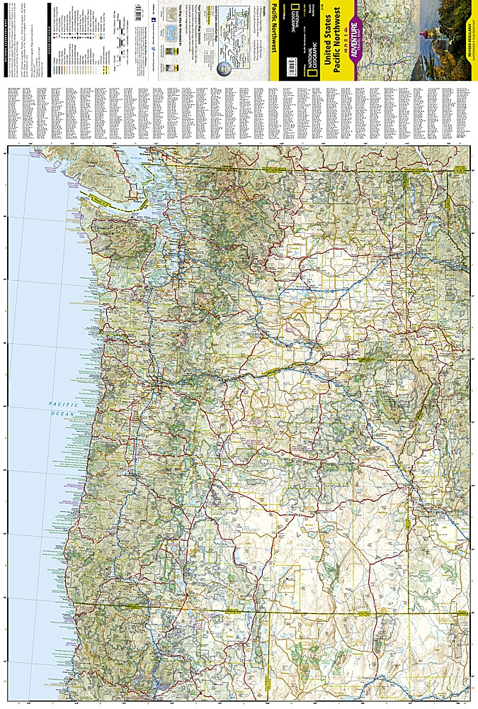 map pacific northwest usa Usa Pacific Nw National Geographic Adventure Map The States Of map pacific northwest usa