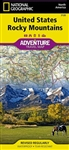 Rocky Mountains USA Adventure Travel Map