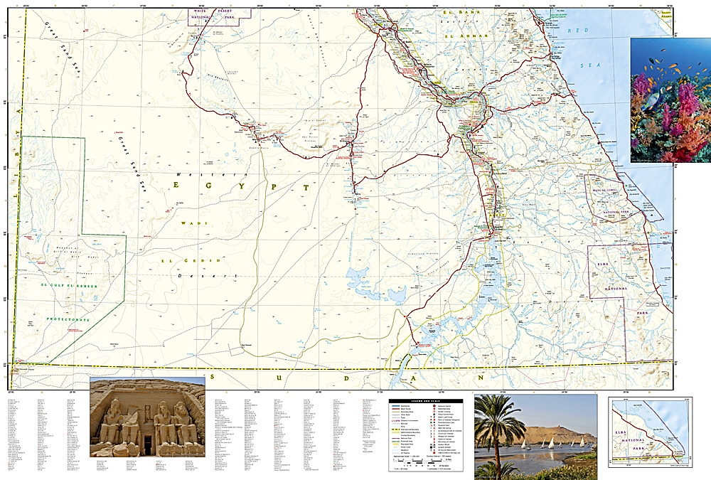 Egypt National Geographic Adventure Map - Map of egypt national geographic