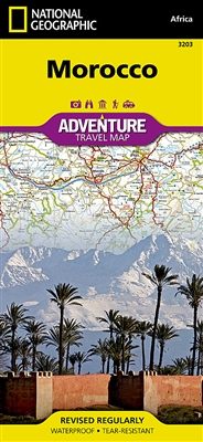 National Geographics Morocco Adventure Map is designed to meet the unique needs of adventure travelers with its durability and accurate information. This folded map provides global travelers with the perfect combination of detail and perspective, highligh