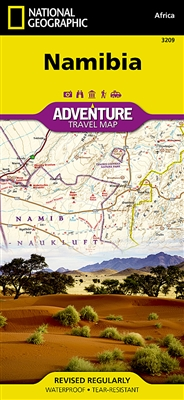 Namibia National Geographic Adventure Map