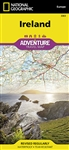 National Geographics Ireland Adventure Map is designed to meet the unique needs of adventure travelers with its durability and accurate information. The north side of the Ireland map details from the northernmost tip of the island at Malin Head south to D