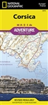 Corsica National Geographic Adventure Map