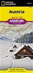 National Geographics Austria Adventure Map is designed to meet the unique needs of adventure travelers with its durability and accurate information. This folded map provides global travelers with the perfect combination of detail and perspective, highligh