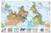 Upside Down World Map - Large. This south at the top map is a great educational tool. It challenges basic notions of what is up and down, depending where you live. True up from our standpoint on the earth, is away from the center, and the earth in space h