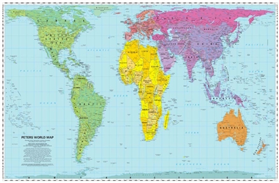 Peters Projection Worl Map ODT