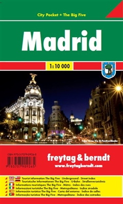 Madrid City Pocket Travel Map the City Pocket maps are handy pocket sized maps. They show each city and an inset map of the metro. On the back there is a street index as well as a legend showing shopping, culinary, culture, nightlife and sights. The lege