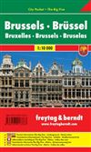 Brussels Belgium - City Pocket Map Guide. Freytag and Berndt maps are some of the nicest maps available. They are extremely detailed with great color and most of the maps have beautiful relief shading. Many of the maps are also double sided with photograp
