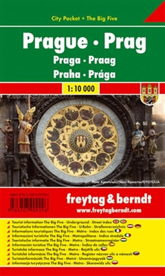 Prague City Pocket Map. The City Pocket maps are handy pocket sized maps. They show each city and an inset of the metro. On the back there is a street index as well as a legend showing shopping, culinary, culture, nightlife and sights. The legend is in 10