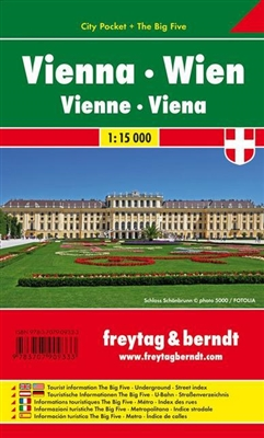 Vienna - Austria City Pocket Map. The City Pocket maps are handy pocket sized maps. They show each city and an inset map of the metro. On the back there is a street index as well as a legend showing shopping, culinary, culture, nightlife and sights. The l