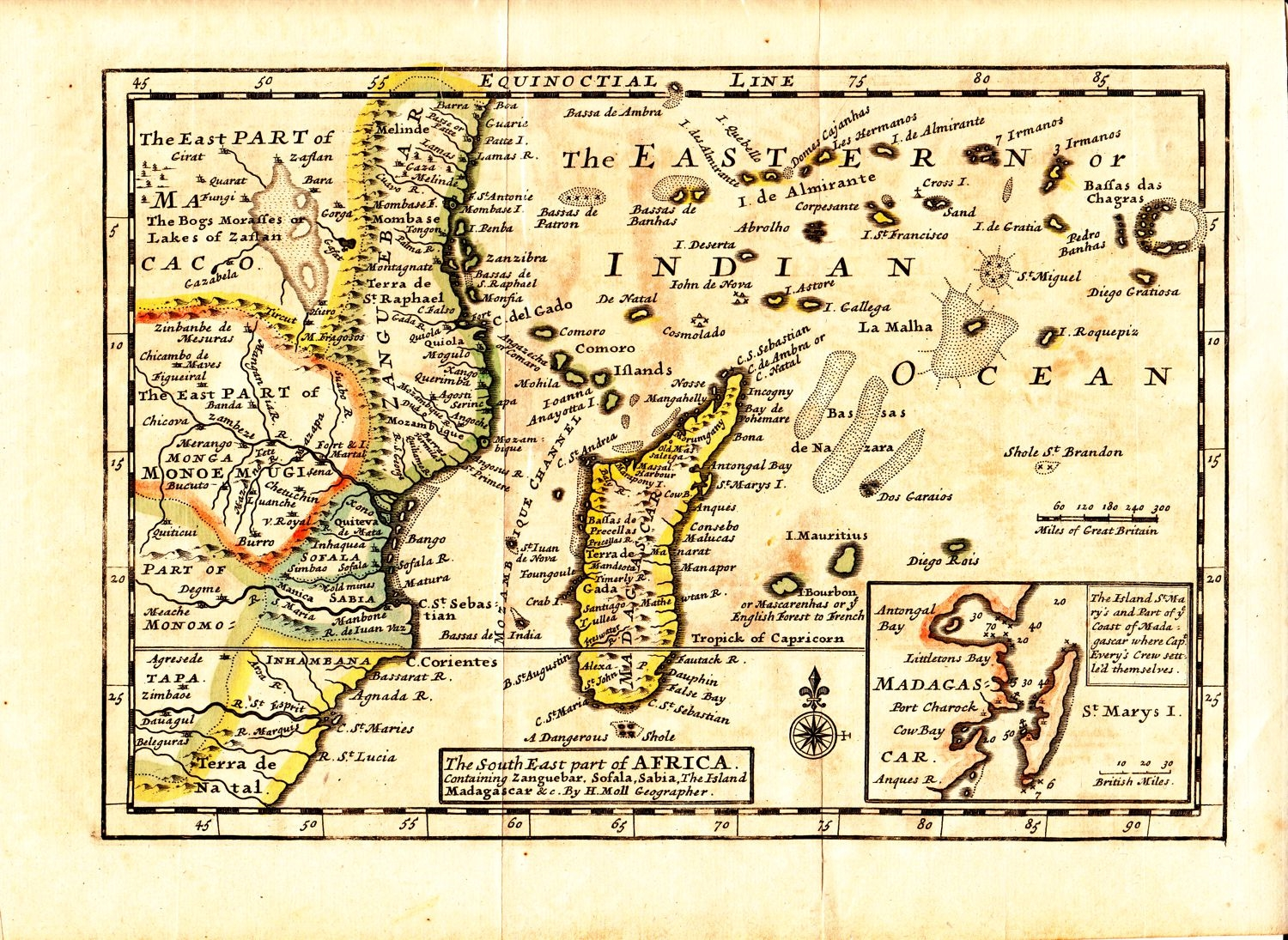 Antique map of SE Asia by Herman Moll - circa 1732. This old ...
