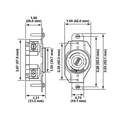 Leviton 2610 Locking Receptacle