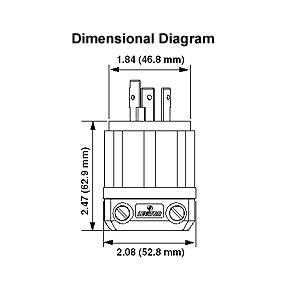 Leviton 30 Amp, 125 Volt, NEMA L5-30P, 2P, 3W, Locking