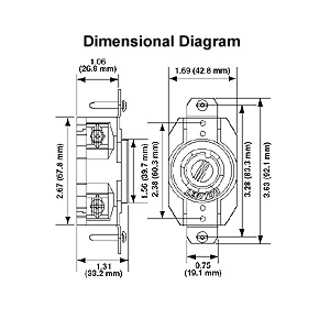 l14 30r wiring diagram with Leviton 30   125 250 Volt Nema 14 30r Flush Wiring Diagram on Wiring A L14 30p Plug Diagram also Nema 5 15 Wiring Diagram also Nema 5 20r Wiring Diagram together with 30 Twist Lock Wiring Diagram moreover Wiring Plug L14 30 Vs L15 Diagram.