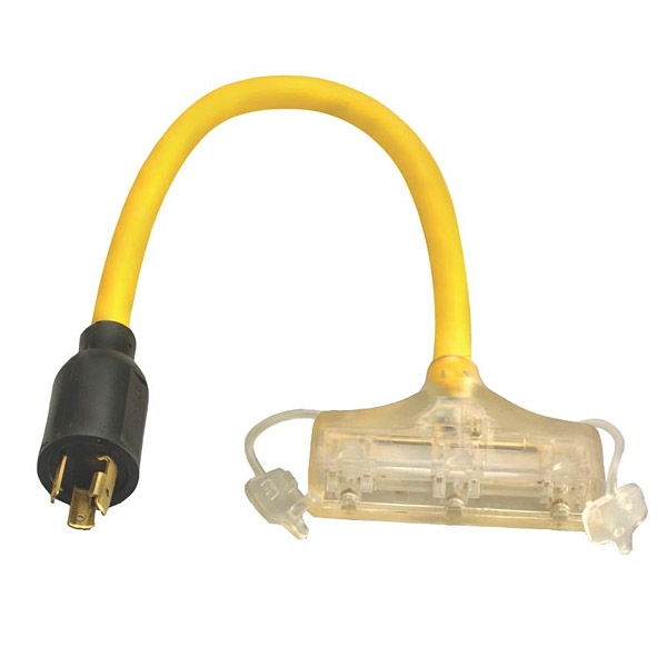 coleman 90848802 twist lock cord adapter  120v  15a  l520