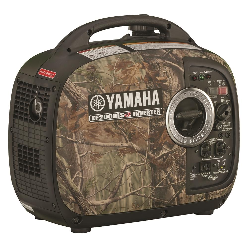 yamaha ef2000ischv2 camo 2000 watt inverter generator