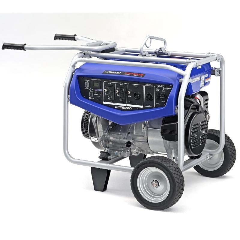 Generators Yamaha EF7200D Generator with Manual Start 7200-watt RV ...