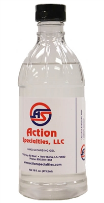Action Specialties Hand Cleansing Gel 16 oz.