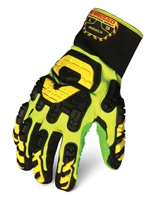 Ironclad Vibram Rigger Directional Grip Palm, 3-D Beveled Rope Channel Glove - VIB-RIG