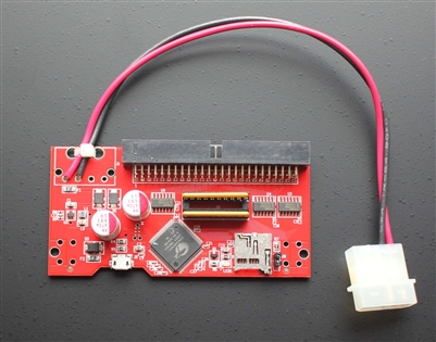 SCSI2SD v5.0b with extended Molex power whip