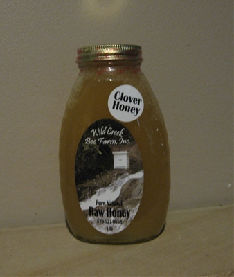 1lb raw clover honey jar