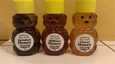 2oz honey bear bottles