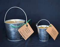 tin pail beeswax candle