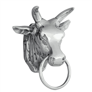 Mounted Bull Head Wall Decor