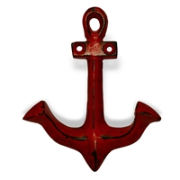 Anchor Hook in Distressed Red Finish