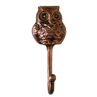 Owl Wall Hook in Distressed Copper Finish