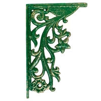 Decorative Shelf Bracket in Green and Gold