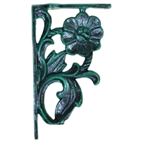 Decorative Shelf Bracket in Green and Black