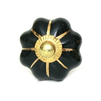 Melon knob (Black and Gold)