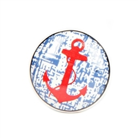 Ceramic Knob with Red Anchor