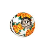 Ceramic Knob (Yellow Flowers)