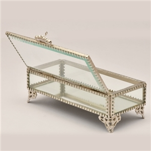 Decorative Rectangualr Glass Jewelry Box
