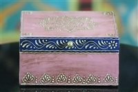 Wooden Jewelry Box (Pink and Blue)