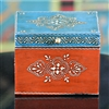 Wooden Jewelry Box (Blue and Orange)