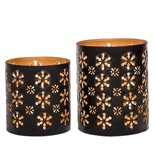 Set of 2 Metal Votive Candle Candle Holders