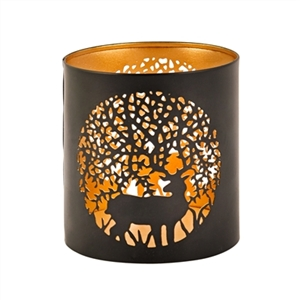 Deer Cutout Tealight Candle Holder