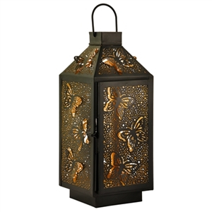 Decorative Butterfly Table Top Metal Lantern