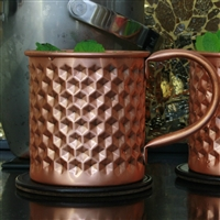 The Hex Hammered Pure Copper Mug - 16 oz