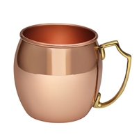 The Classic Pure Copper Moscow Mule Barrel Mug - 16 oz