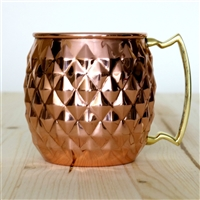 The Pineapple Shaped Copper Moscow Mule Barrel Mug - 16 oz
