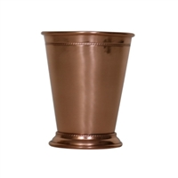 Beaded Pure Copper Mint Julep Cup in Shiny Finish - 14 oz